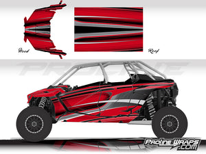 Proline Wraps Series Graphics - Throttle - Polaris RZR Pro XP4