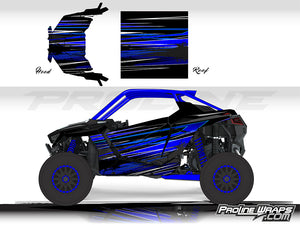 Proline Wraps Series Graphics - Burnout - Polaris RZR Pro XP