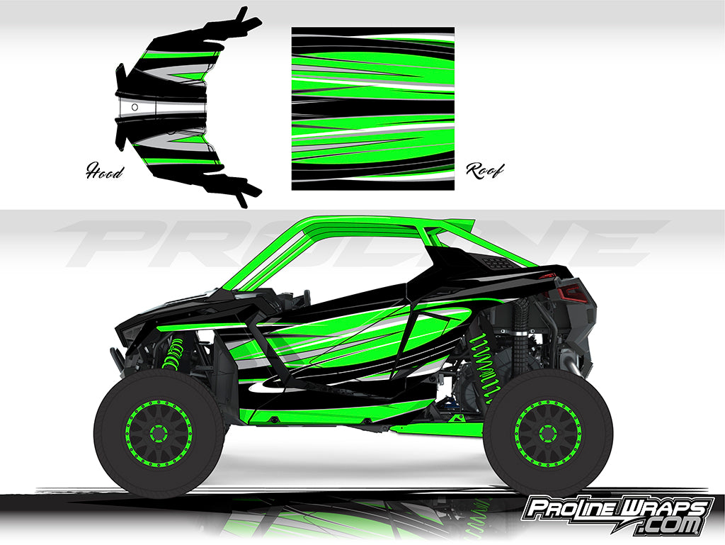 Proline Wraps Series Graphics - Cyclone - Polaris RZR Pro XP