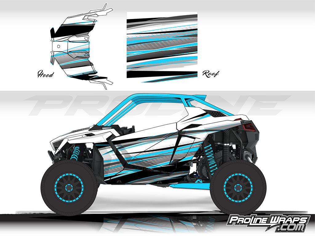 Proline Wraps Series Graphics - Graphite - Polaris RZR Pro XP