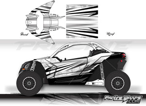 Proline Wraps Series Graphics - Granite - Can-Am Maverick X3 - 2 Door