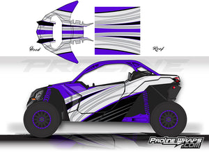 Proline Wraps Series Graphics - Ice - Can-Am Maverick X3 - 2 Door