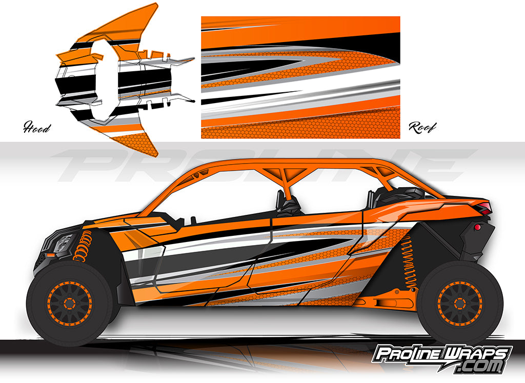 Proline Wraps Series Graphics - Atomic - Can-Am Maverick X3 - 4 Door