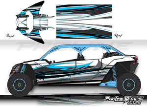 Proline Wraps Series Graphics - Blaze - Can-Am Maverick X3 - 4 Door