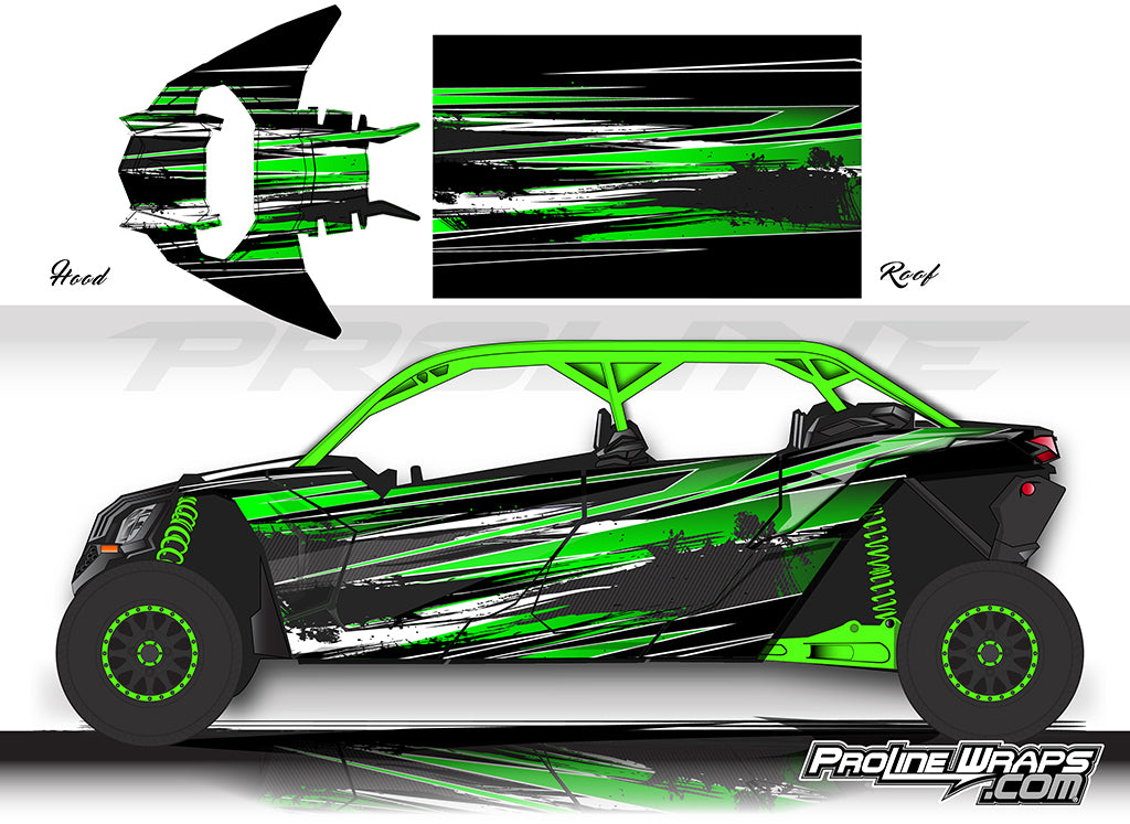 Proline Wraps Series Graphics - Burn - Can-Am Maverick X3 - 4 Door