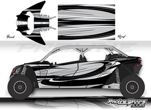 Proline Wraps Series Graphics - Cyclone - Can-Am Maverick X3 - 4 Door