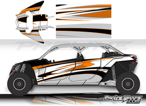 Proline Wraps Series Graphics - Deviant - Can-Am Maverick X3 - 4 Door