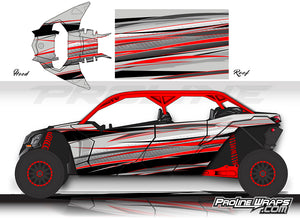 Proline Wraps Series Graphics - Graphite - Can-Am Maverick X3 - 4 Door