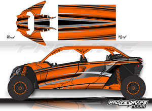 Proline Wraps Series Graphics - Throttle - Can-Am Maverick X3 - 4 Door