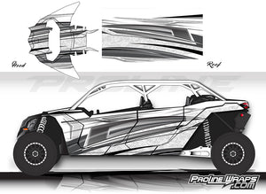Proline Wraps Series Graphics - Vortex - Can-Am Maverick X3 - 4 Door
