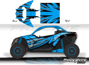 Proline Wraps Series Graphics - Wipeout - Can-Am Maverick X3 - 2 Door