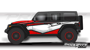 Proline Wraps - Jeep Wrangler JL Wrap Kit 4DR - Cliff