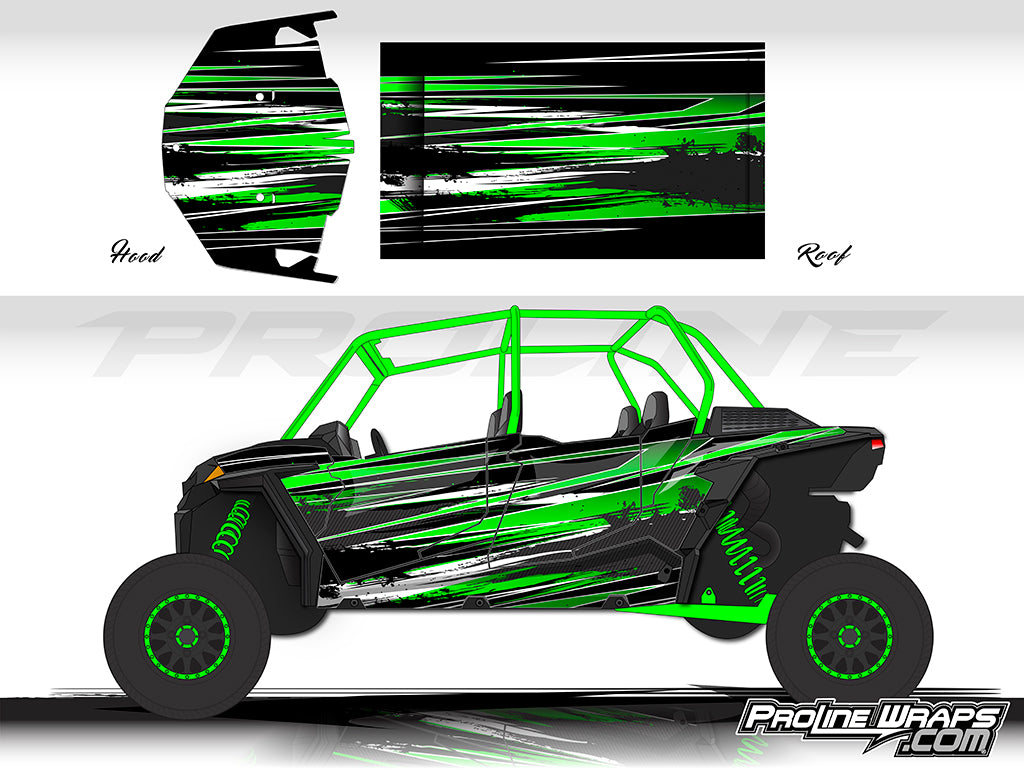 Proline Wraps Series Graphics - Burnout - Polaris RZR XP 4 Turbo