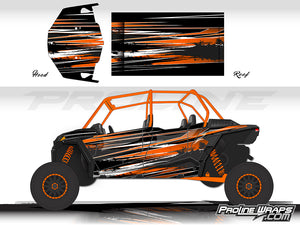 Proline Wraps Series Graphics - Burnout - Polaris RZR XP 4 Turbo S