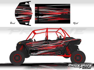 Proline Wraps Series Graphics - Burnout - Polaris RZR XP 4 1000