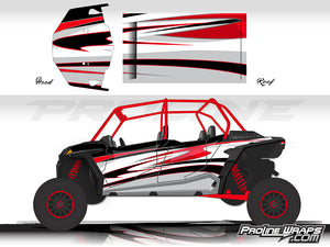 Proline Wraps Series Graphics - Deviant- Polaris RZR XP 4 Turbo S