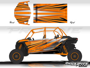Proline Wraps Series Graphics - Granite - Polaris RZR XP 4 Turbo S
