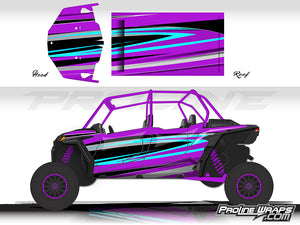 Proline Wraps Series Graphics - Atomic - Polaris RZR XP 4 Turbo