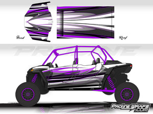 Proline Wraps Series Graphics - Blaze - Polaris RZR XP 4 Turbo S