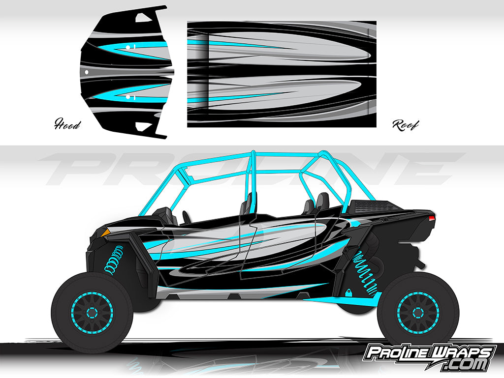 Proline Wraps Series Graphics - Cyclone- Polaris RZR XP 4 1000