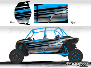 Proline Wraps Series Graphics - Electric- Polaris RZR XP 4 Turbo S