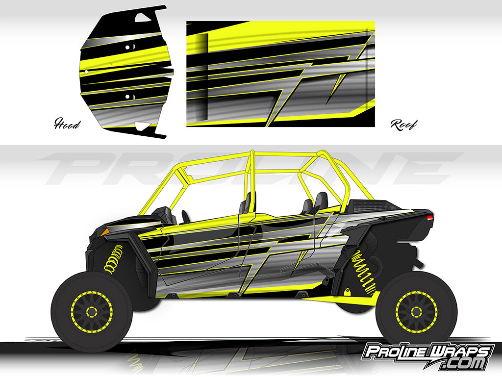 Proline Wraps Series Graphics - Electric - Polaris RZR XP 4 1000