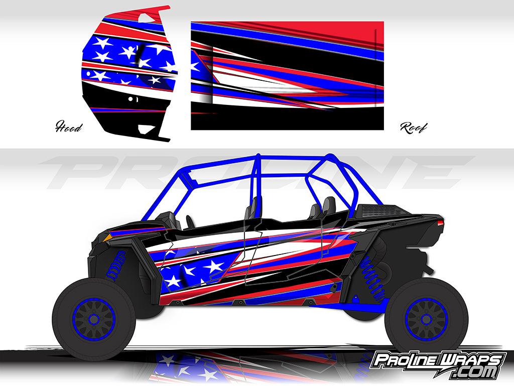 Proline Wraps Series Graphics - Freedom - Polaris RZR XP 4 1000