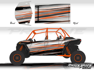 Proline Wraps Series Graphics - Graphite - Polaris RZR XP 4 Turbo