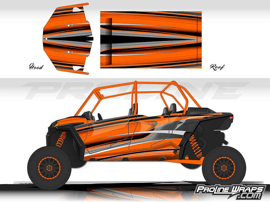 Proline Wraps Series Graphics - Throttle - Polaris RZR XP 4 Turbo S