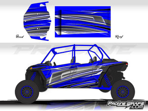 Proline Wraps Series Graphics - Vortex - Polaris RZR XP 4 Turbo