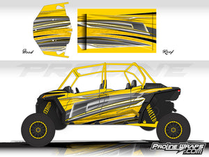 Proline Wraps Series Graphics - Vortex - Polaris RZR XP 4 Turbo S