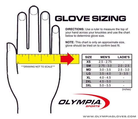 Olympia Gloves Size Chart Image