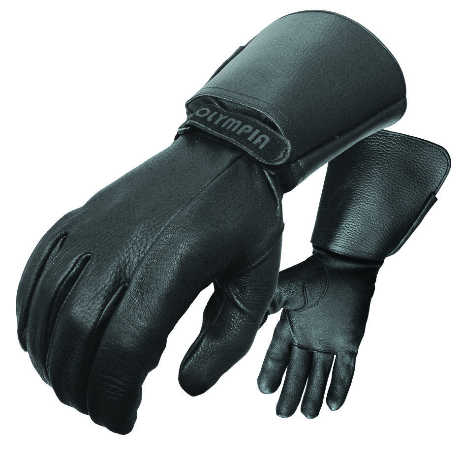 Leather gauntlet driving gloves - Olympia Gloves 144 Deerskin Classic Gloves Product Image