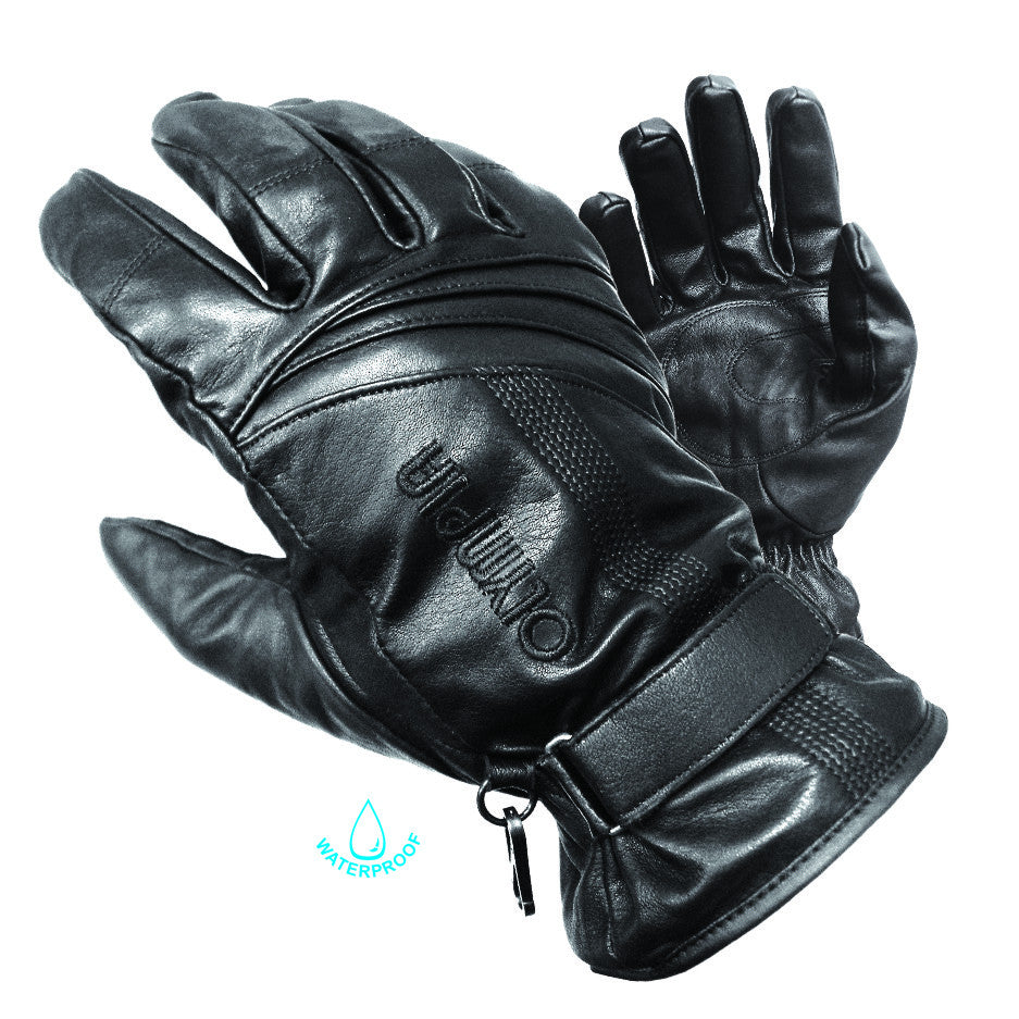 Motorcycle leather gloves waterproof - Olympia Gloves 180 Monsoon Gloves Product Image