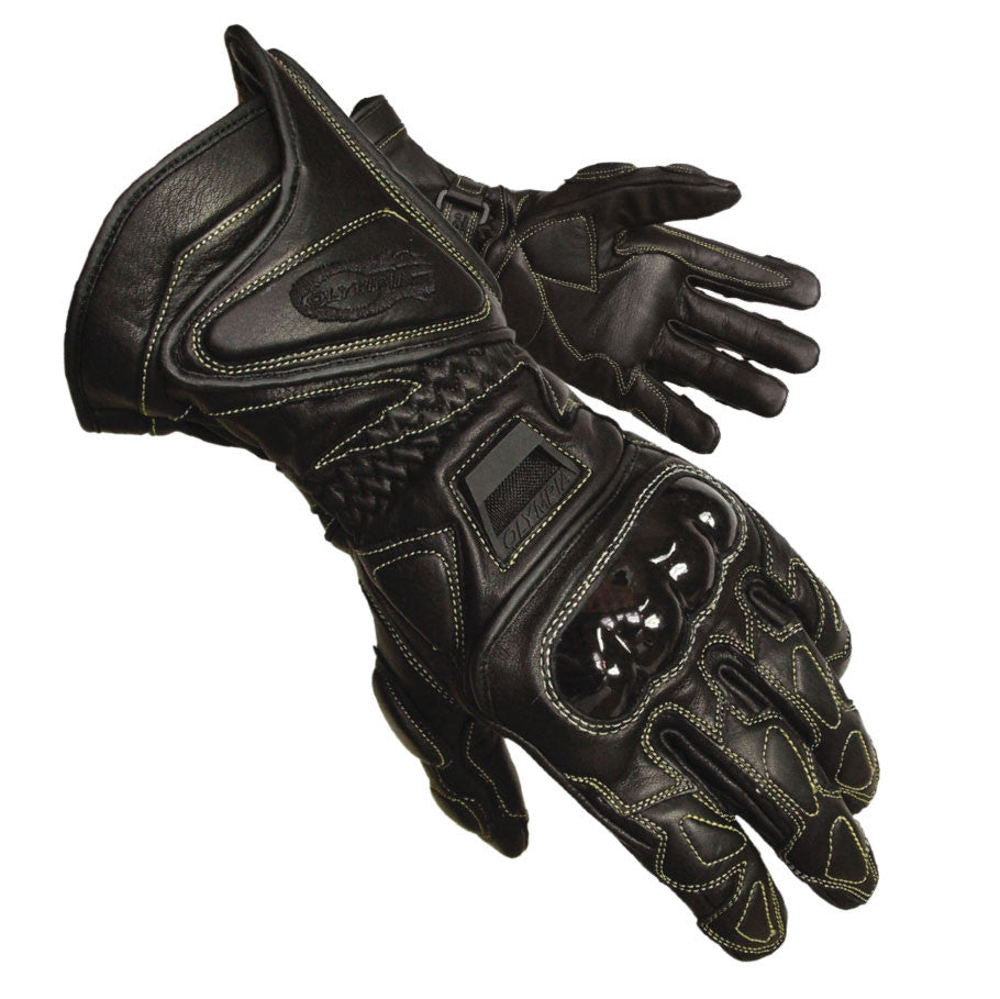 Motorcycle gloves hard knuckles - Olympia Gloves 340 Vented Kevlar Protector Gloves Product Image