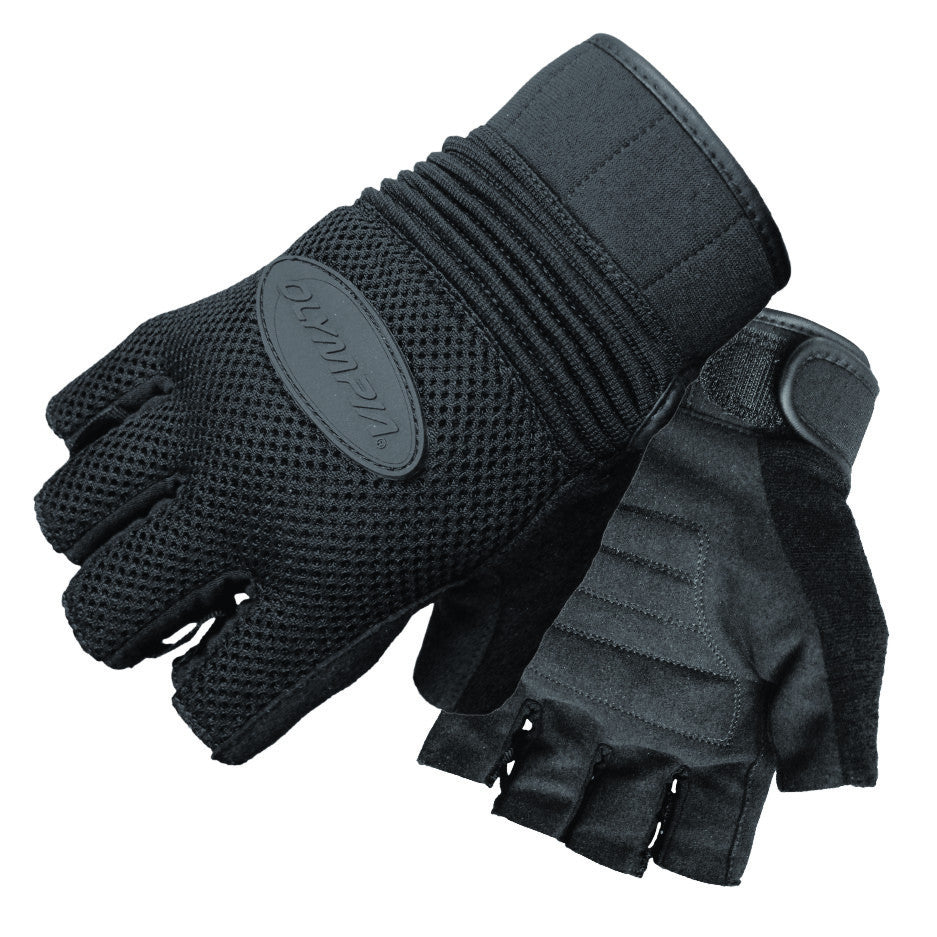 Motorcycle gloves mesh - Olympia Gloves 757 Air Force Fingerless Gel Gloves Product Image