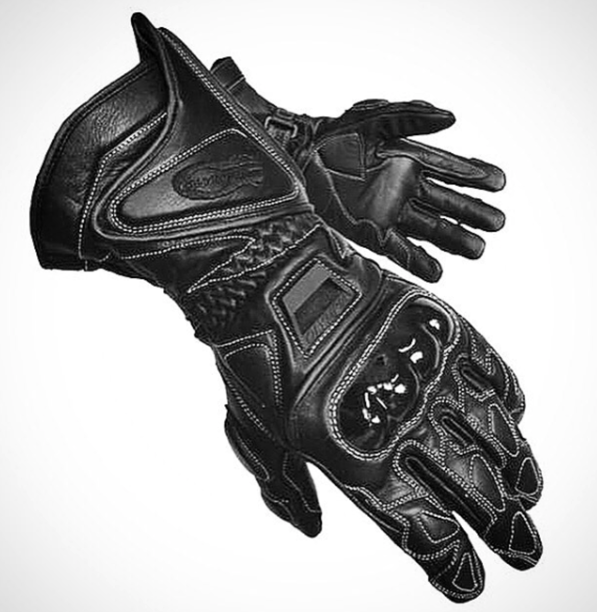 MENS MOTORCYCLE WATERPOOF GLOVES WITH GEL PALM W//HARD CARBON FULL FINGER RIDING
