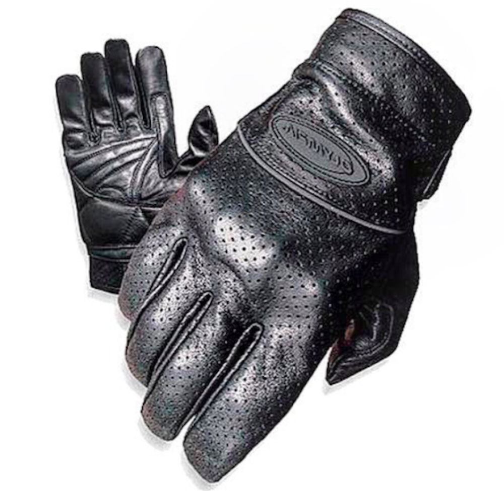 Olympia Sports Mens Perforated Full Throttle Gloves Black, XX-Large