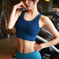 Breathable hole fitness bra beauty back vest shock-proof gathering sports underwear women running quick-drying yoga stereotypes