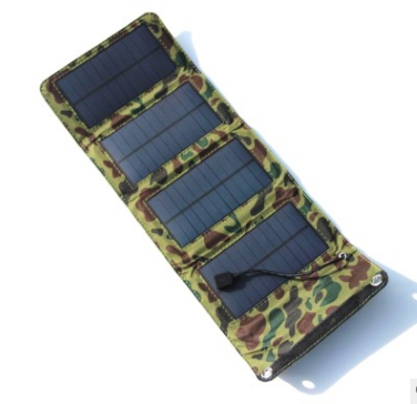 Outdoor 8W folding solar charger Direct charging collapsible solar package Off-road emergency mobile power supply - Smoulder Products