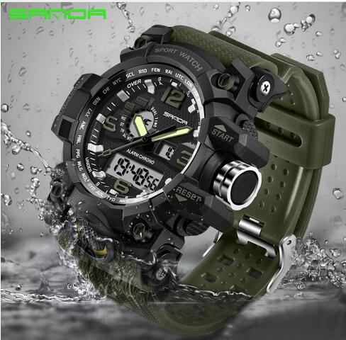 SANDA military watch waterproof sports watches men's LED digital watch top brand luxury clock camping diving relogio masculino 🚚 FREE Shipping on all orders - Smoulder Products