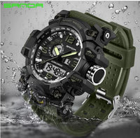 SANDA military watch waterproof sports watches men's LED digital watch top brand luxury clock camping diving relogio masculino 🚚 FREE Shipping on all orders