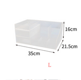 Desktop Cosmetics Storage Box Drawer Large Plastic Dressing Table Jewelry Box Storage Box