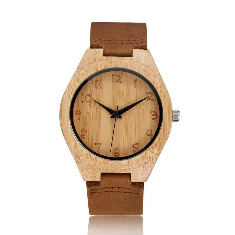 Bamboo Analog Quartz Nature Wood Wrist Watch - Smoulder Products
