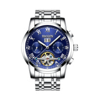 A man's watch hedge automatic mechanical watches Tourbillon waterproof hollow men's swimming.