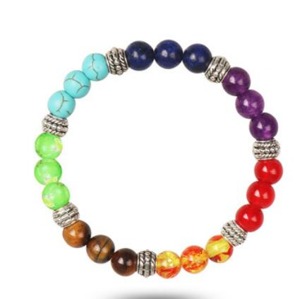 Colorful Chakra Yoga Energy Bead Bracelet - Smoulder Products