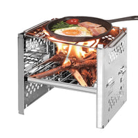 Firewood stove mini barbecue