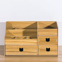 Home appliances large multi-layer desktop cosmetics collection box wooden drawer type storage box dresser