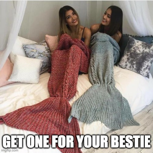 Mermaid Tail Blanket Crochet Mermaid Blanket For Adults, Teenager's and Children Super Soft and Comfy All Seasons Sleeping Knitted Blankets - Smoulder Products