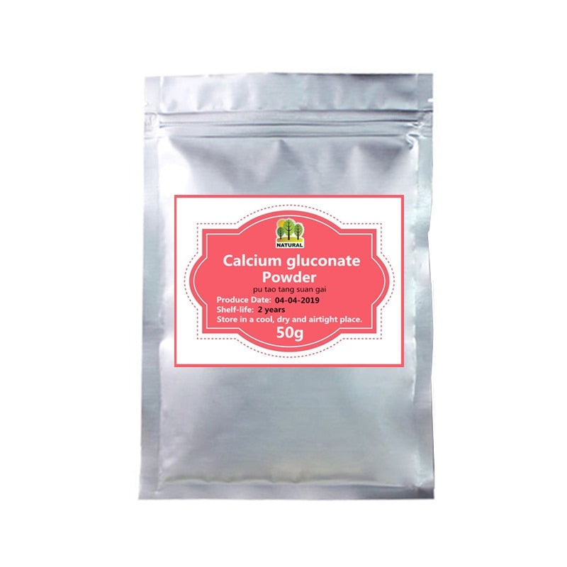 50-1000g,Calcium supplement,Food grade calcium gluconate powder,d-glucose powder,Maintaining healthy skin, bones and Immunity - Smoulder Products